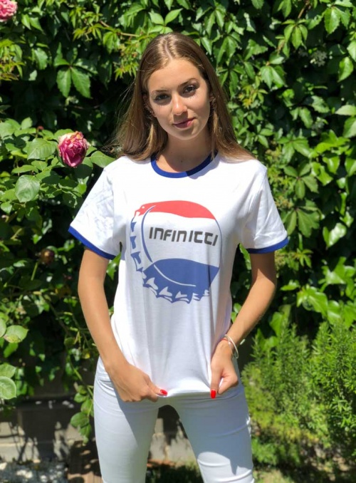 Camiseta Chapa Infinitti mujer color blanco