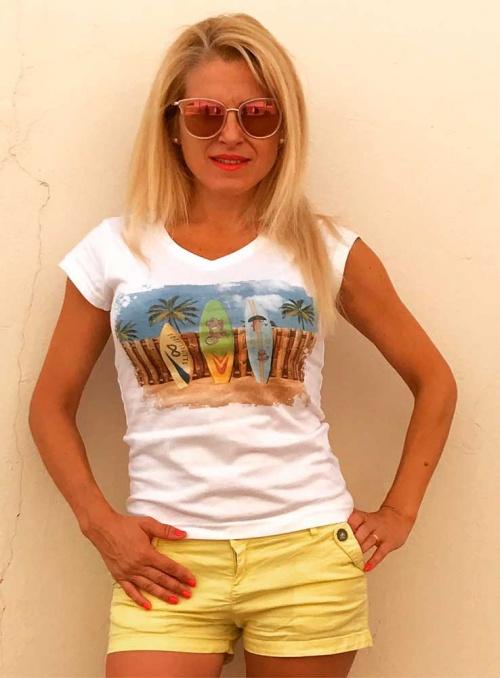 Camiseta mujer Surf Infinitti
