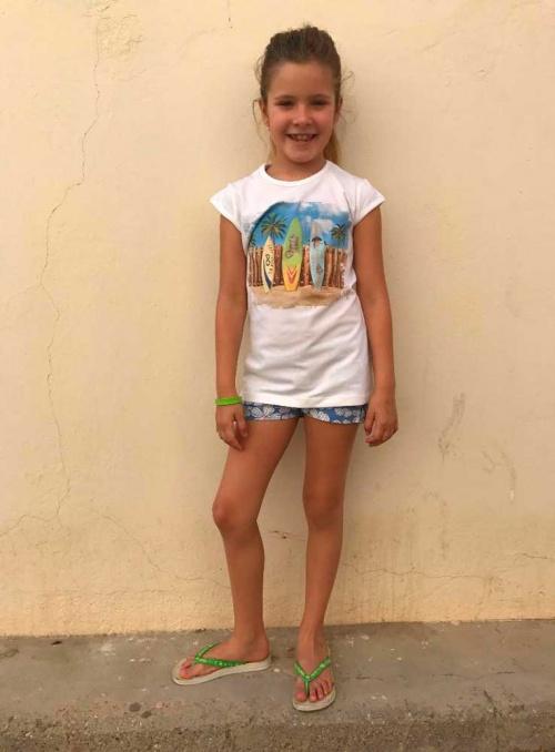 camiseta surf niña