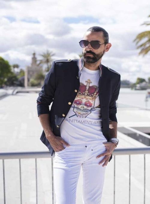 Camiseta hombre blanca Infinittamente Rey