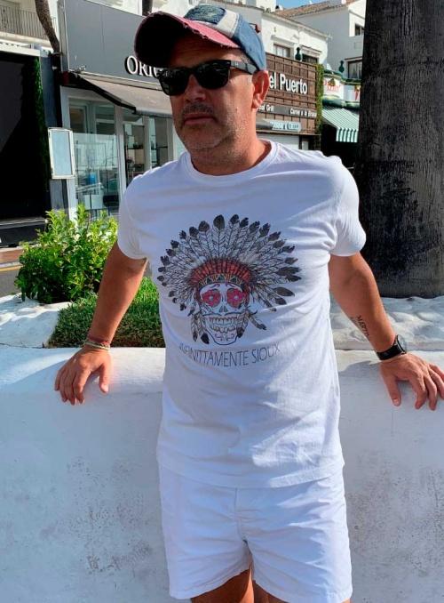 Camiseta Infinittamente Sioux hombre color blanco